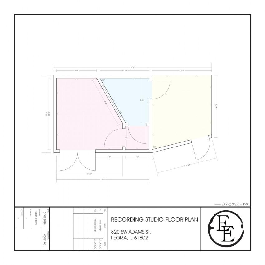Evening's Empire - Recording Studio Floorplan