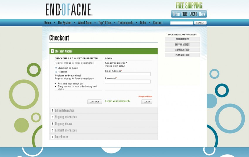 End of Acne - One-Page Checkout
