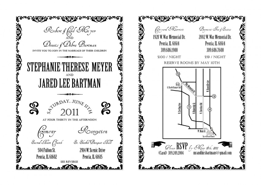 Jared & Steph - Wedding Invitation
