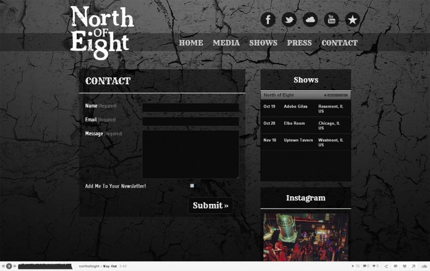North of Eight - Contact